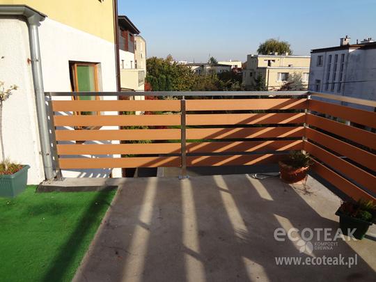 Genialny Ogrodzenia i wypełnienie balustrad - propozycja marki EcoTeak KH39