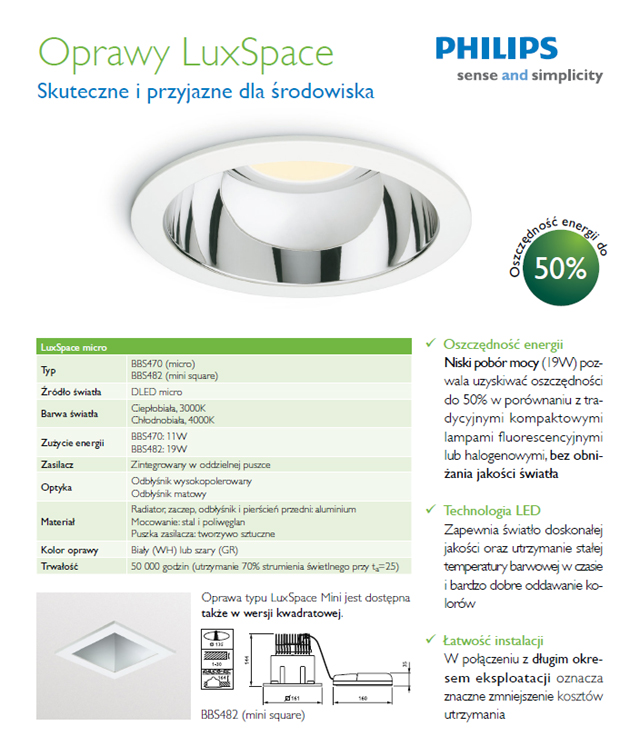 Oprawy Lux Space Philips